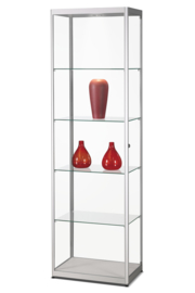 Glass display cabinet MPC 600 silver with LED toplight