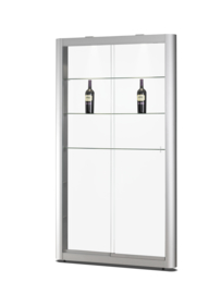Glass display cabinet  150 1106 silver - wall unit