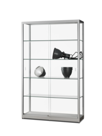 Glass display cabinet 311 1200 silver