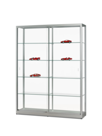 Glass display cabinet 311 1500 silver