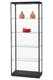Glass display cabinet MPC 800 black with LED toplights
