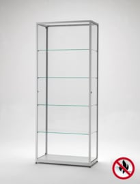 Fire class B1 display cabinet BMS 800 silver