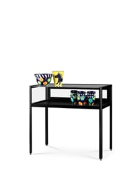 Dustproof table showcase 1000 black with legs