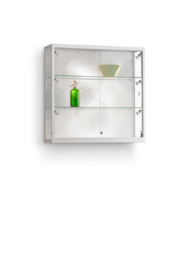 Wall cabinet 111 1000x300x984 silver with side lights