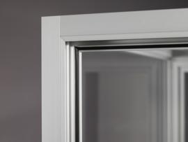 Dustproof display case V8 800 silver with LED toplights