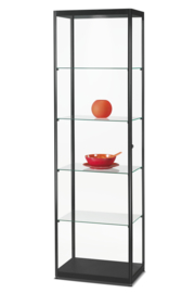 Glass display cabinet MPC 600 black with LED toplight