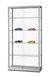 Glass display cabinet WME 1000 silver