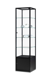 Glass display cabinet WMS 500 black with storage