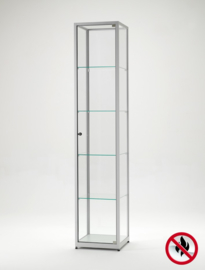 Fire class B1 display cabinet BMS 400 silver