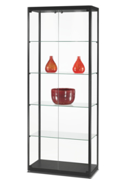 Glass display cabinet MPC 800 black with doors at the front