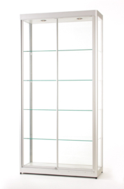 Glass display cabinet 315 1000-silver with security profiles
