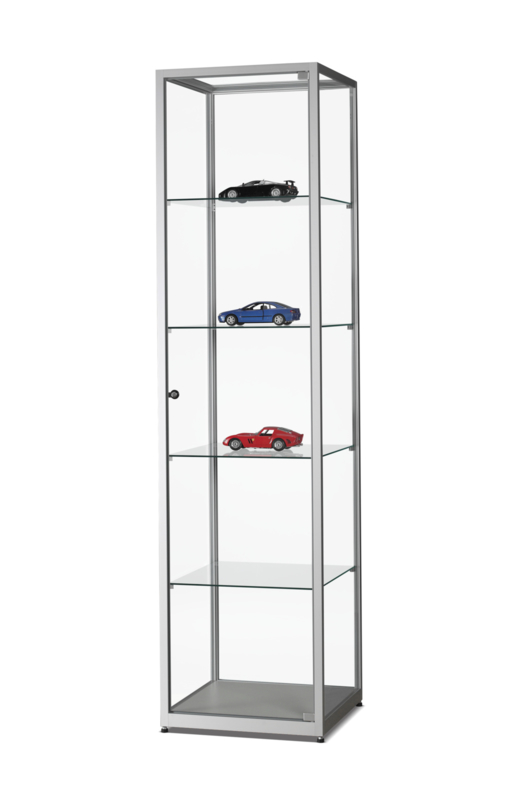 Glass display cabinet WMS 500 silver