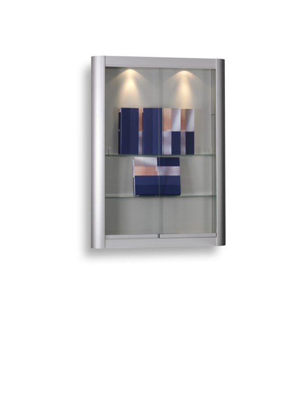 Wall display cabinet 150 silver