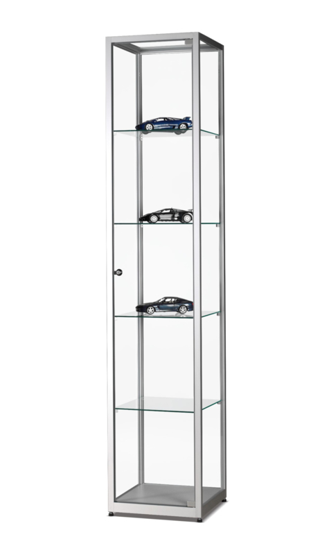 Glass display cabinet WMS 400 silver