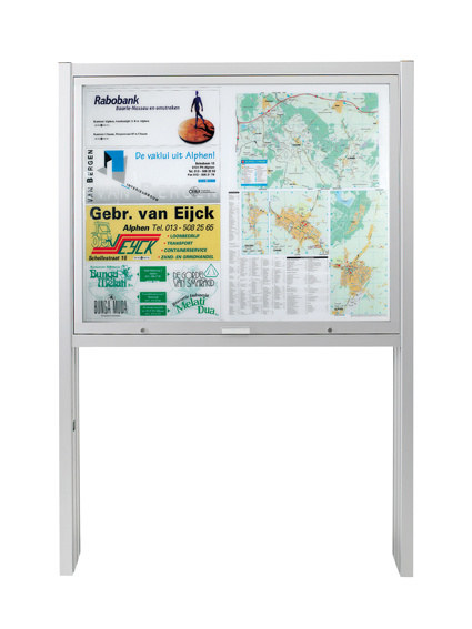 Information board 1553 16xA4 DIN A0 with posts