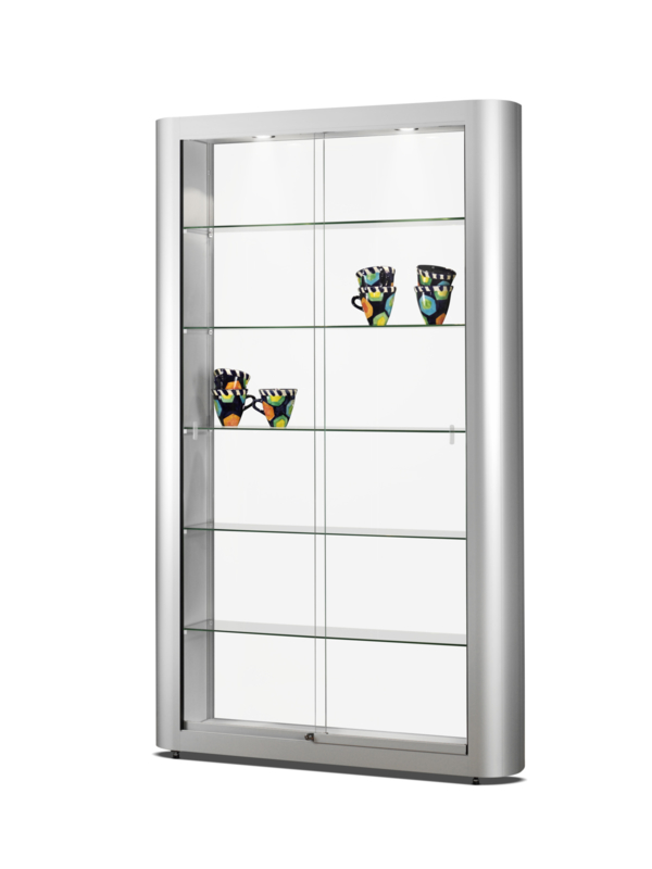 Glass display cabinet 250 - 1186 silver - roomdevider