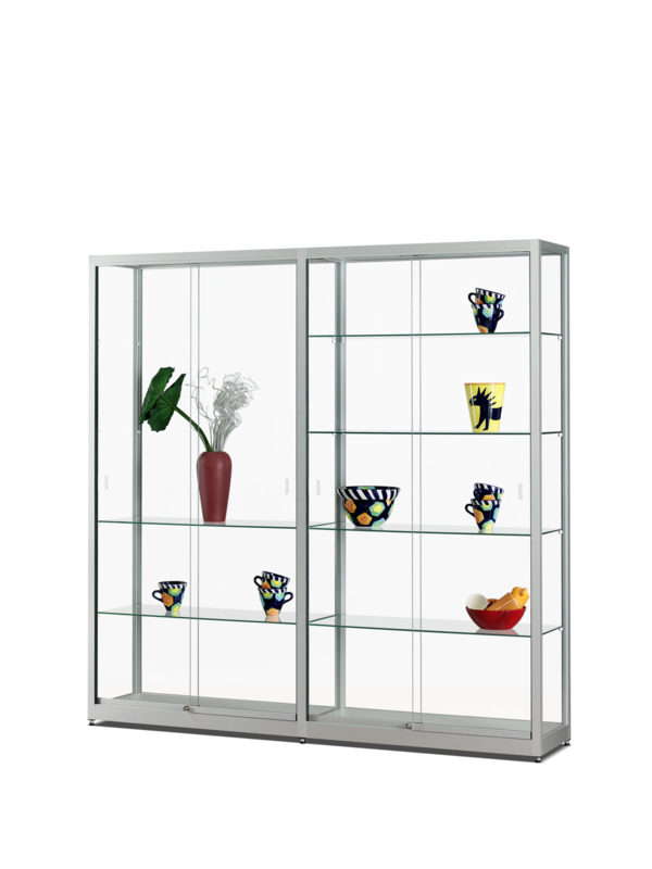 Glass display cabinet  311 1976 silver