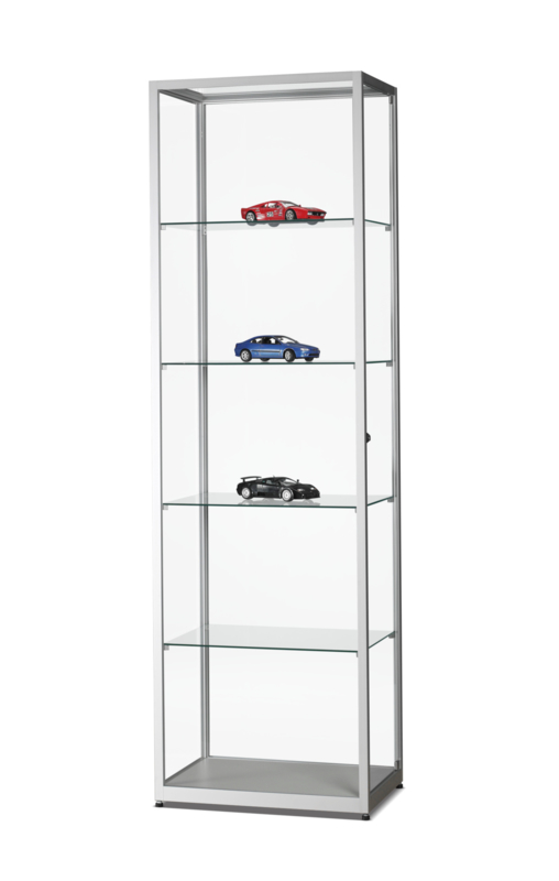 Glass display cabinet WMS 600 silver