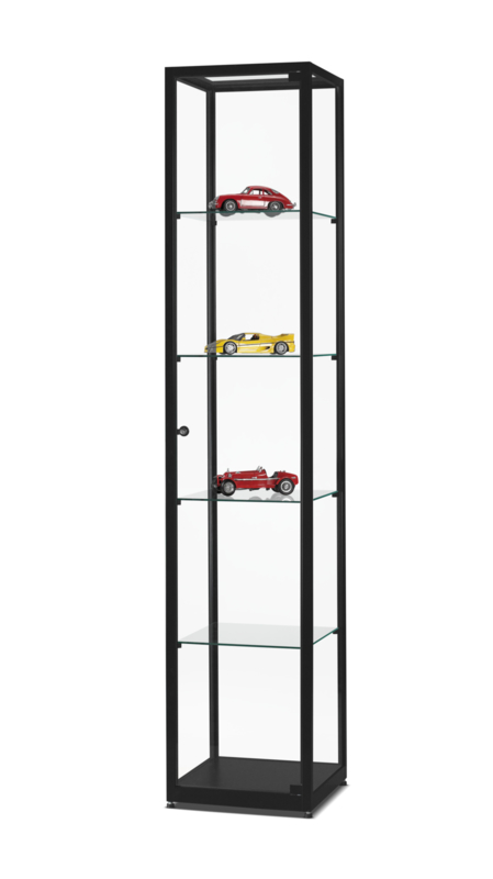 Glass display cabinet WMS 400 black