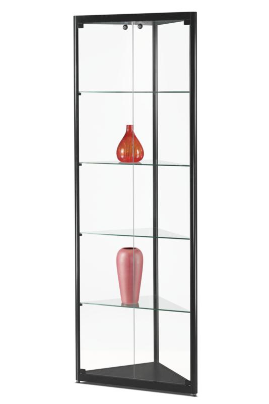 Glass corner display cabinet WMS 500 black