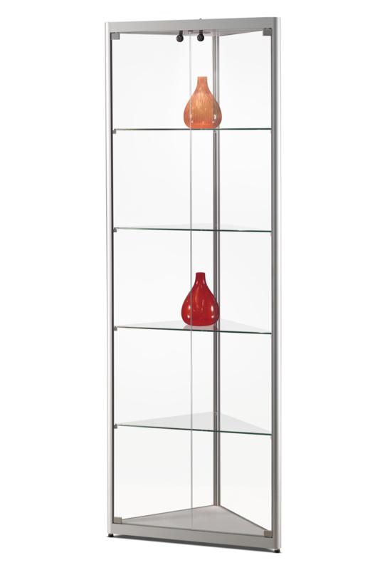 Corner display cabinet MPC 500 silver