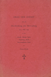 Orde van dienst 5 mei 1955 (2e-hands)