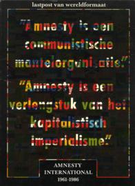 Lastpost van wereldformaat - Amnesty International 1961-1986