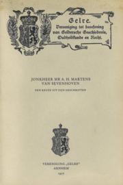 Jonkheer Mr. A.H. Martens van Sevenhoven - Een keuze uit zijn geschriften