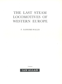 The Last Steam Locomotives of Western Europ (2e-hands)