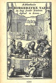 De borgerlyke tafel - Om Lang Sonder Ziekten Gesond te Leven