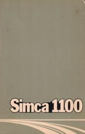 SIMCA 1100 - Handleiding / instructieboekje 1975