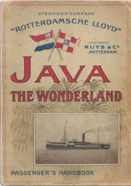 JAVA The Wonderland - Passenger's Handbook 'Rotterdamsche Lloyd'
