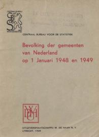 Bevolking der gemeenten van Nederland op 1 januari 1948 en 1949
