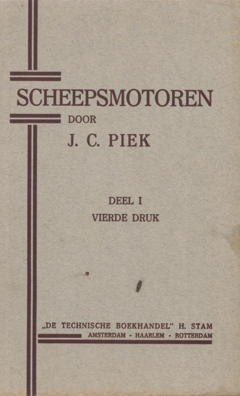 Scheepsmotoren, deel 1 ,vierde druk, 1942