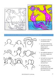 Beeldverhalen - werkboek van Lisa Borstlap - geinspireerd door Keith Haring (64 blzd.full colour)