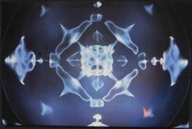 Muladhara- cymatic foto 16 Hz 40 x 60 cm