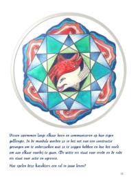 MANDALA PROCESSEN - van beeld naar woord -  tekeningen en tekst van Lisa Borstlap   (60 blz. full colour)