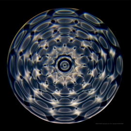15 Cymatic poster 9690 44 hz 60 x 60 cm