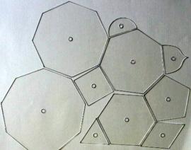 10 Sjablonen ( losse set )