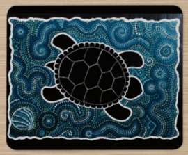 Muismat: Turtle - aboriginal design van Karuna Vasantha