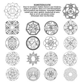 42 mandala's - losse set op 200 gram aquarelpapier ( 20x20 cm ) Vanaf 10 sets 10 % korting - kortingscode invullen:   42M-LS-LB-K