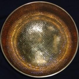 20 Tibetsn dinging bowl on Aluminium 60 x 60 cm
