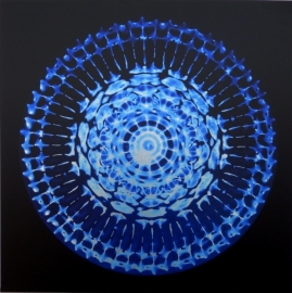 04 Cymatic foto - Danny Becher's stem - op Aluminium 60 x 60 cm