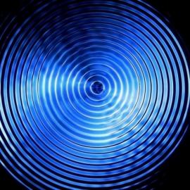 03 Cymatic poster 12 Hz resonantie 50 x 50 cm