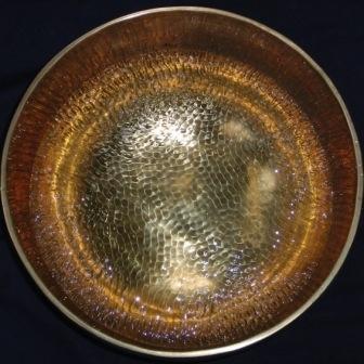 20 Tibet Klankschaal op Aluminium 60 x 60 cm