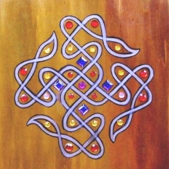 Kolam - op canvas 30x30 cm