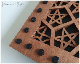 Industrial geometry panel