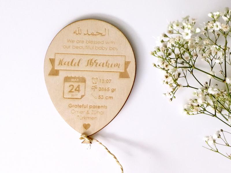 Geboortekaart Ballonnetje Premium