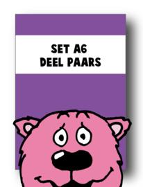 Set alle spellingkaarten A6 deel paars - 15 stuks