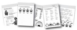Werkboeken paars - set à 5